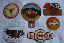 vintage car badges / old badges from diferent car club