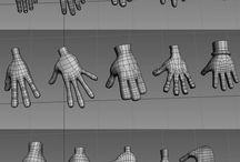 3D topology / Wireframe topology for animation