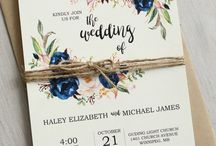 Wedding invitations boho chic