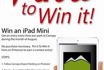 Pin it to Win it! / by Canopy Airport Parking