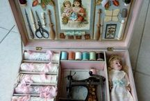 Vintage Sewing Stuff / Antique sewing implements, beautiful old linens and buttons, and great ways to use them!