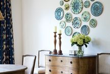 Plates and other unusual wall decor / by Michelle Bates