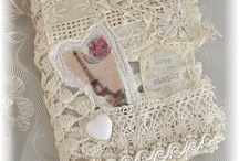 lace and fabric journals