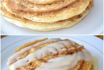 Pan cake Cinnamon roll