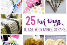 Fabric scraps ..quick sew