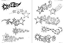 Estrelas desenho tattoo