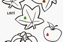 Podzim omalovánky