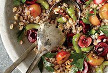 no cook recipes farro cherry walnut sald  myrecipes.com