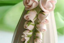polymer clay - kwiaty