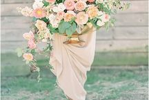 peach centerpieces / by Mallory Joyce Design