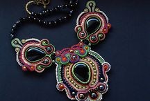 My jewelry with beads and soutache