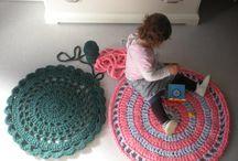 The tea shirt crochet carpet