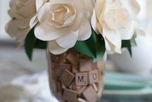 Living Love Letters centerpieces
