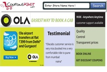 Ola Cabs Coupons - Book radio taxi , airport taxi in Delhi , Bangalore , Mumbai , Pune  / Book cheapest taxi in India using Ola cabs - Book radio taxi in delhi , airport taxi bangalore , mumbai pune taxi at discount rates . Ontime taxi in India !