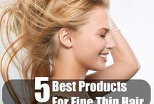 Hair and products for thicker looking hair
