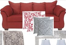 philda create lounge with red sofa