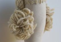Crochet amigurumi eyes, hair