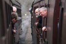 train and life around it
