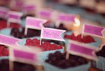 Rapsberry, strawberry, blackberry weddings