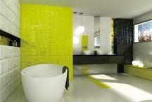 Badkamer/ Salle de bain / Inspiratie foto's wand- en vloertegels voor badkamer Photo d'inspiration des carrelages sol et mur