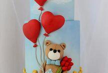 bamse kake pynt div dyr ol