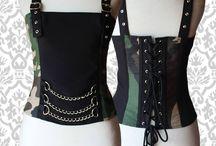 Corsets - Tops Góticos / Dark / Tops con 4 ballenas en la parte trasera. Confeccionados en diferentes materiales. Acordonados en la espalda.