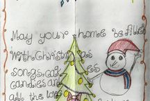 Christmas cards from SAW Safe House  / We have recieved these wonderful pictures from the children at SAW Safe House.  We are impressed with their drawing skills and talents!