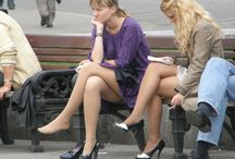 Nude Pantyhose and Nylon Feet / Candid and Amateur Women In Sexy Nude Pantyhose and No Shoes Showing Off Their Nylon Feet