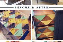 Retro bútorok festése