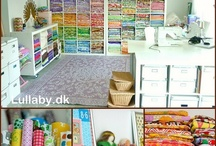 Organizing {Craft Room Inspiration} / I have a huge room, tons of materials and no idea what to do... here are some people who have great ideas!!!