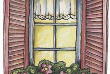 Pencere önü saksıları
