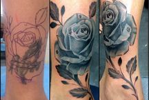 Tattoos / My old unicorn covered up by a black rose