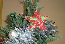 Adornos navideños / Adornos navideños en tela y con piezas de poliespan