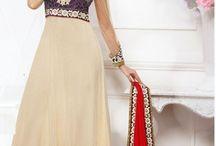 Anarkali Salwar Suits / FashionFemina.com offer you latest indian designer Anarkali Salwar Kameez Suits crafted with heavy embroidery work includes zari, zardosi, resham, multi thread, cutwork, cutdana, kundan work etc. on rich and finest fabrics.