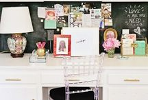 office + desk space / by Whitney Robinson