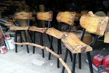 Puutuolia / Pölkkytuolit