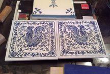 Réplica Azulejos sobre madera