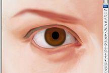 채색 과정 : 눈