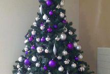 Purple Xmas tree