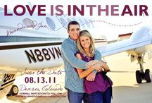 Love is in the air - airplane/travel wedding