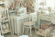 shabby chic craft rooms n crafts   / by Denise Morgan