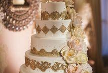 Wedding Cakes, Gold. Indian Weddings Magazines / Indian Wedding Inspirations: Gold Wedding Cakes