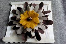 Felt flower brosch / Sweety