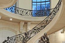 beautiful house stairs