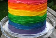 Rainbow themed birthday