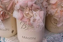 allestimento festa in oro e rosa