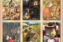 Ilustracje ze starych bajek