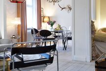 Inspo interior / Love Petra Tungårdens home! Big inspire for me, amazing taste in fashion and interior designs. And the Tom Dixon lamp is gorgeous!
