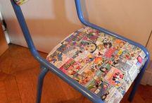 collage sur meubles