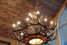 Antler Chandeliers & Decor / Visit www.LogCabinRustics.com for real American-made handcrafted antler chandeliers and antler decor.  No animals are ever harmed.
